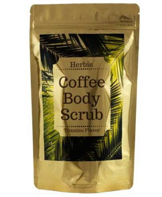 Natural coffee face and body scrub